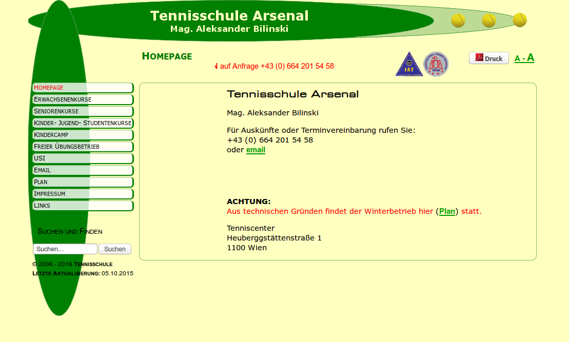 Tennisschule Arsenal