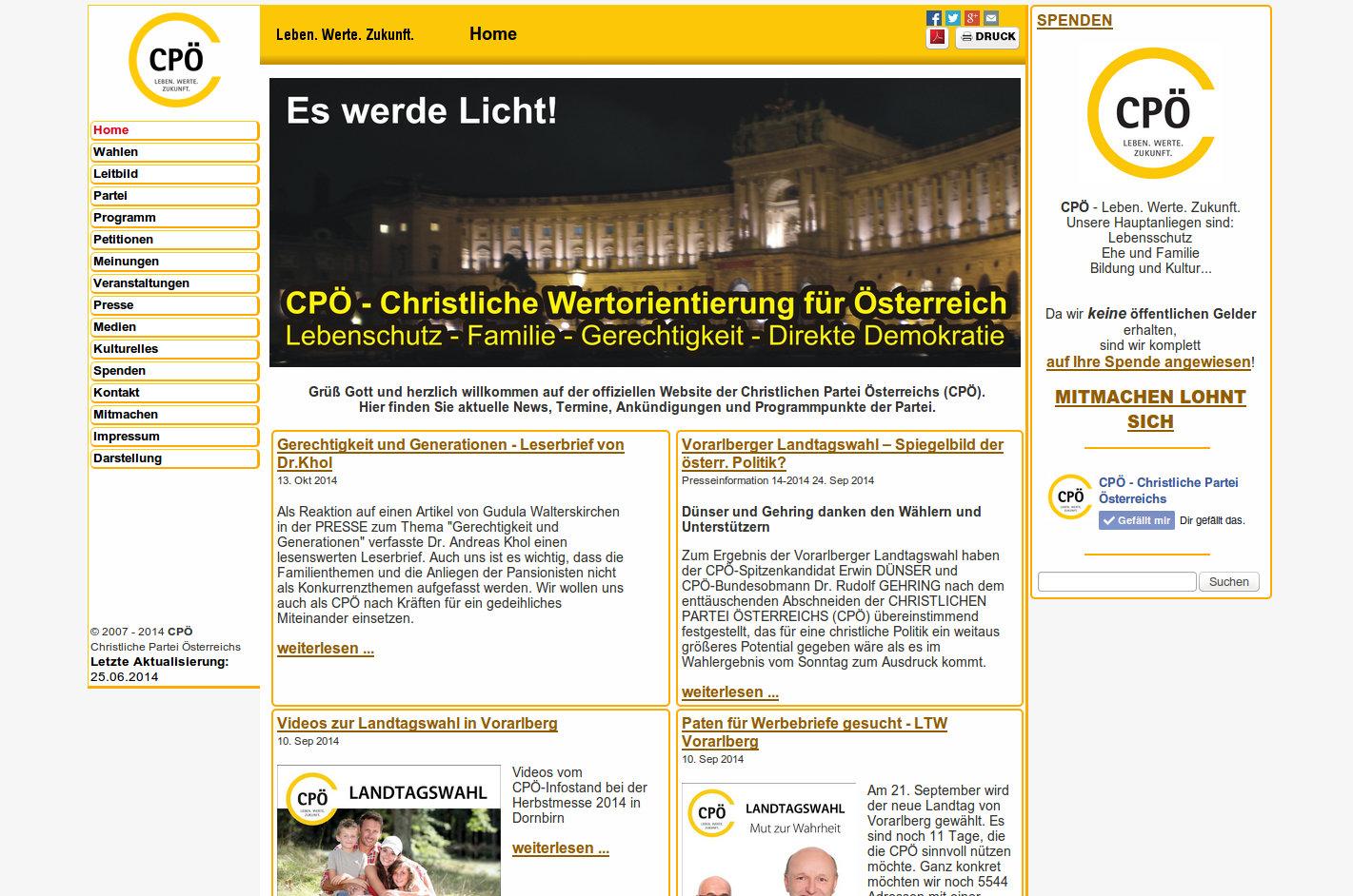 CPÖ Christliche Partei Österreichs