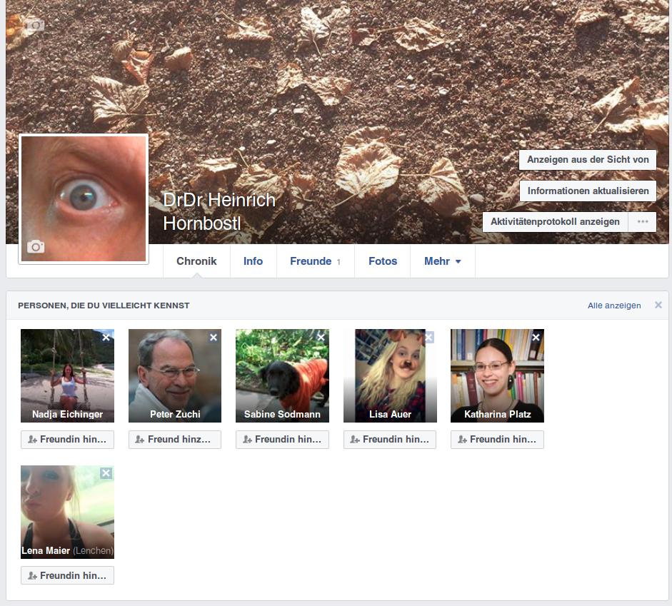 Facebook Dr.Dr. Hornbostl